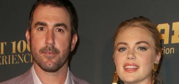 Kate Upton & Justin Verlander welcomed a girl named Genevieve Upton Verlander