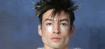 Ezra Miller continues to serve up major lewks for the 'Fantastic Beast' tour