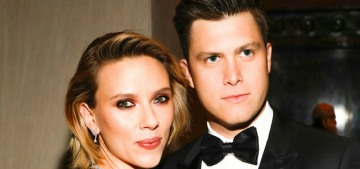 Scarlett Johansson & Colin Jost were coupled-up at a museum gala in NYC
