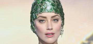 Amber Heard in Valentino at the UK 'Aquaman' premiere: algae realness?