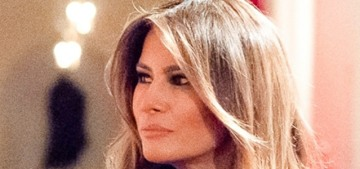 Melania Trump: The Blood Trees of Doom look 'even more beautiful' in person