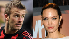 David Beckham is totally cryptic about Angelina Jolie, Armani ads & affairs
