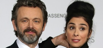 Michael Sheen's relationship with Sarah Silverman ended because of Brexit, Trump