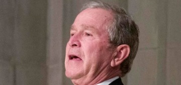 George W. Bush passed candy to Michelle Obama again at his dad's funeral