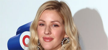 Ellie Goulding in a sheer ruffled nightie with platform sneakers: ridiculous or fun?