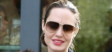 Angelina Jolie went Christmas shopping at the Grove with Knox, Vivienne & Shiloh