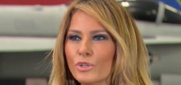 Melania Trump debuts gross-looking blonde hair, tells the same old lies