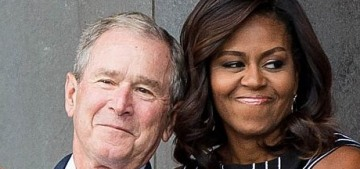 Michelle Obama praises 'the beauty' of George W. Bush for giving her candy