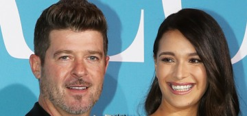 """Robin Thicke proposed to April Love Geary, and she said yes"" links"