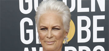 Jamie Lee Curtis in McQueen at the Globes: what's going on with her styling?
