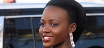 Lupita Nyong'o in custom Armani at the Globes: gorgeous & flirty?