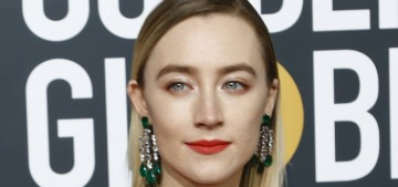 Saoirse Ronan shimmered in champagne Gucci at the Golden Globes