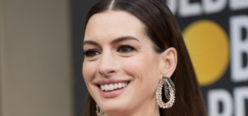 Was Anne Hathaway's animal-print Elie Saab one of the worst looks of the Globes?