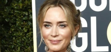 Emily Blunt in McQueen at the Golden Globes: intricate, flat or lovely?
