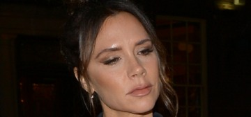 Victoria Beckham looks like she finally snapped & stopped caring about her marriage