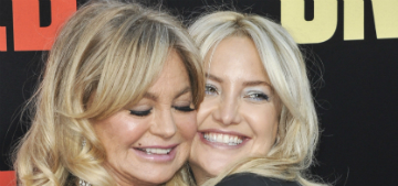 Goldie Hawn was up close and personal when Kate Hudson delivered her baby