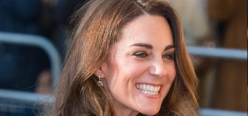 Duchess Kate wore a bespoke, buttony Beulah London to an event in Lewisham