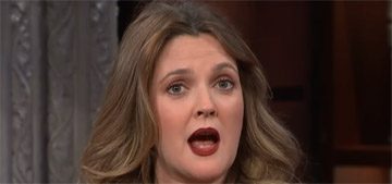 Drew Barrymore never gets stage fright: 'I came out of the womb with a martini'