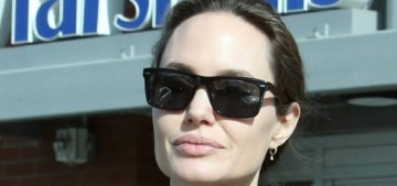 Angelina Jolie & Shiloh got a new pet at their local Petco: kitten or bunny?
