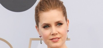 Amy Adams in a peplum'd Celine at the SAGs: lovely & perpetually snubbed?
