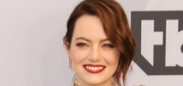Emma Stone in Louis Vuitton trousers at the SAG Awards: cute or nah?