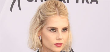 Lucy Boynton in Erdem at the SAGs: one of the worst dressed or kind of cool?
