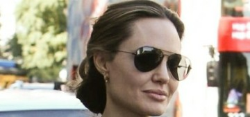 Angelina Jolie stepped out for sushi with Zahara, Vivienne & Knox in LA
