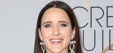 Rachel Brosnahan is representing her late aunt Kate Spade's brand