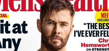 Chris Hemsworth 'cranked his back for weeks' during a 100-meter dads' race