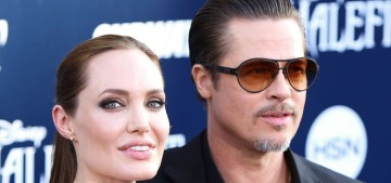 Angelina Jolie & Brad Pitt managed to sit in the same room together this week