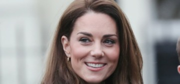 Duchess Kate in green boucle Eponine in London: super-cute & bright?
