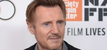Liam Neeson tries to explain his racist story by repeating it & claiming he's 'not racist'