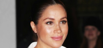 Duchess Meghan gave off Carolyn Bessette vibes in a classic Givenchy look