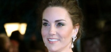 Duchess Kate wore a rather glamorous, flattering McQueen to the 2019 BAFTAs