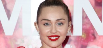 Miley Cyrus in Valentino at the 'Isn't It Romantic' premiere: dramatic & high-fashion?