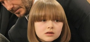 Harper Beckham got a new Anna Wintour-esque bob & bangs haircut