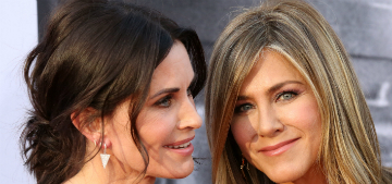 Courtney Cox & her friends got Jennifer Aniston a pottery wheel for her birthday