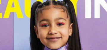 North West, 5 years old, got the solo cover of WWD's Beauty Inc issue