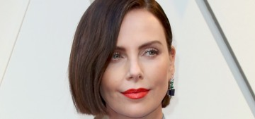 Charlize Theron goes brunette in Dior at the Oscars: Aeon Flux Realness?