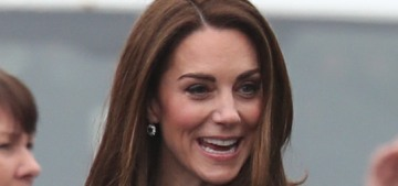 Duchess Kate in a mini-caped Mulberry coat in Northern Ireland: dated or lovely?