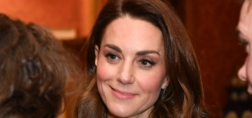 Duchess Kate had that '80s-secretary dress made by a private dressmaker, omg