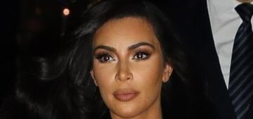 Kim Kardashian wore a sheer, animal-print Maison Alaïa catsuit in Paris: ugh?