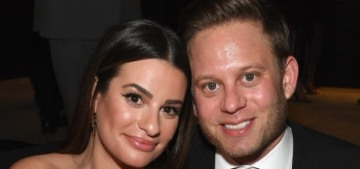 Lea Michele married Zandy Reich in Napa, and her wedding gown was pretty great?