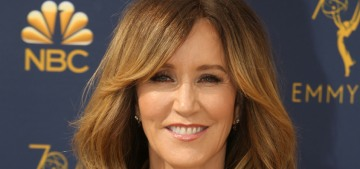 Felicity Huffman was arrested yesterday when armed FBI agents raided her home