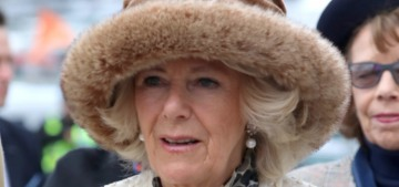 The Duchess of Cornwall phoned it in, hat-wise, at the Cheltenham Festival
