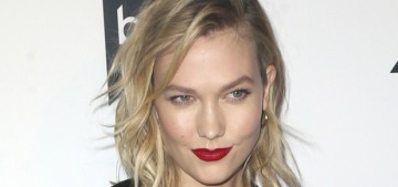 Karlie Kloss was very careful when answering some questions about Taylor Swift
