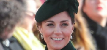 Duchess Kate wore green McQueen for her trip to the Irish Guards on St. Patrick's Day