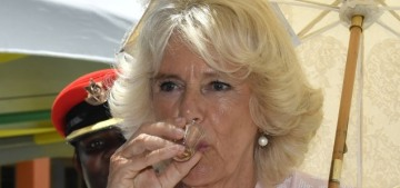 Maybe they should just give Duchess Camilla shots of rum wherever she goes