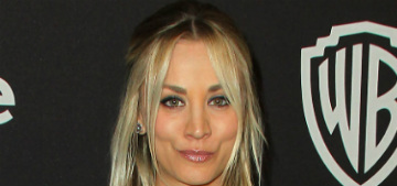 Kaley Cuoco has a diva rescue rabbit which she carries around in a backpack