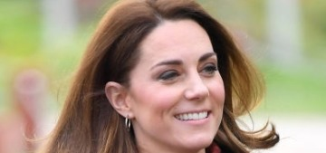 Duchess Kate steps out in jeggings for a Scout Association event in Essex